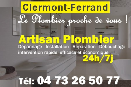 plombier clermont ferrand d pannage 24h 7j 04 73 26 50 77. Black Bedroom Furniture Sets. Home Design Ideas